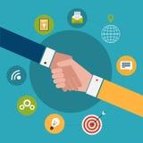 Έννοια για τη συνεργασία και την εργασία ομάδων διανυσματική απεικόνιση