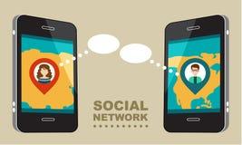 Έννοια για το κοινωνικό δίκτυο Στοκ φωτογραφία με δικαίωμα ελεύθερης χρήσης