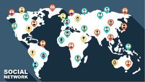 Έννοια για το κοινωνικό δίκτυο Στοκ φωτογραφίες με δικαίωμα ελεύθερης χρήσης