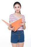 Έννοια για το νέο κορίτσι σπουδαστών στοκ φωτογραφία με δικαίωμα ελεύθερης χρήσης