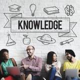 Έννοια γνώσης μελέτης ιδεών εκμάθησης εκπαίδευσης Στοκ Εικόνες