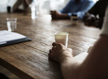 Έννοια γραφείων σεμιναρίου συνεδρίασης των ανθρώπων Στοκ Εικόνες