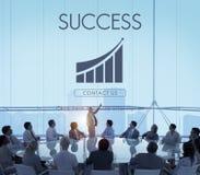 Έννοια γραφικών παραστάσεων εκθέσεων επιχειρησιακής επιτυχίας στοκ εικόνα με δικαίωμα ελεύθερης χρήσης