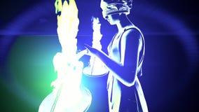 Έννοια γυναικείων Justice αγαλμάτων φιλμ μικρού μήκους