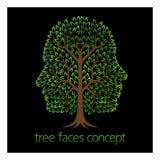 Έννοια δέντρων προσώπων διανυσματική απεικόνιση