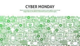 Έννοια Δευτέρας Cyber Στοκ Εικόνα