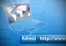 έννοια Διαδίκτυο Στοκ εικόνα με δικαίωμα ελεύθερης χρήσης