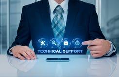 Έννοια Διαδικτύου επιχειρησιακής τεχνολογίας εξυπηρέτησης πελατών τεχνικής υποστήριξης στοκ εικόνες
