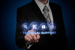 Έννοια Διαδικτύου επιχειρησιακής τεχνολογίας εξυπηρέτησης πελατών τεχνικής υποστήριξης στοκ εικόνα