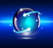 Έννοια Διαδικτύου του παγκόσμιου επιχειρηματικού πεδίου στοκ φωτογραφίες