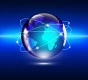 Έννοια Διαδικτύου του παγκόσμιου επιχειρηματικού πεδίου στοκ εικόνες