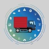 Έννοια διεπαφών φορτηγών Στοκ Φωτογραφία