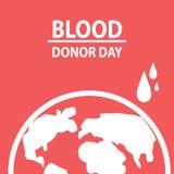 Έννοια δωρεάς αίματος Διανυσματικό επίπεδο σχέδιο απεικονίσεων Στοκ εικόνα με δικαίωμα ελεύθερης χρήσης