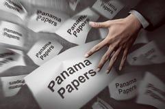 Έννοια εγγράφων του Παναμά Στοκ εικόνες με δικαίωμα ελεύθερης χρήσης