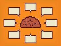 Έννοια εγκεφάλου της εκπαίδευσης και της επιστήμης - απεικόνιση Στοκ Εικόνες