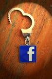 Έννοια εθισμού Facebook Στοκ Εικόνα