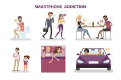 Έννοια εθισμού Smartphone απεικόνιση αποθεμάτων