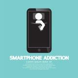 Έννοια εθισμού Smartphone ελεύθερη απεικόνιση δικαιώματος