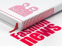 Έννοια ειδήσεων: βιβλίο Anchorman, ειδήσεις μόδας στο άσπρο υπόβαθρο Στοκ Φωτογραφία