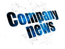 Έννοια ειδήσεων: Ειδήσεις επιχείρησης στο ψηφιακό υπόβαθρο Στοκ φωτογραφία με δικαίωμα ελεύθερης χρήσης