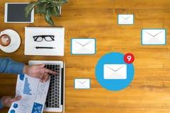 Έννοια εικονιδίων ηλεκτρονικού ταχυδρομείου Στοκ Εικόνες