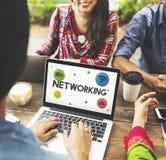Έννοια εικονιδίων δικτύων επικοινωνίας Διαδικτύου Στοκ Εικόνες