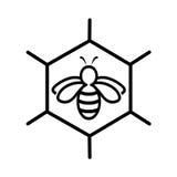 Έννοια εικονιδίων μελισσών, σχέδιο Στοκ Εικόνες