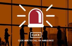 Έννοια εικονιδίων σειρήνων ασθενοφόρων έκτακτης ανάγκης Στοκ Εικόνες