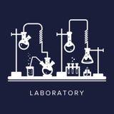 Έννοια εκπαίδευσης και επιστήμης Χημεία, φαρμακείο ή ερευνητικό εργαστήριο Εξοπλισμός επιστήμης Θέμα χημείας r ελεύθερη απεικόνιση δικαιώματος