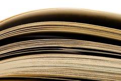 Έννοια εκπαίδευσης και φρόνησης - μακρο άποψη των σελίδων βιβλίων Στοκ φωτογραφία με δικαίωμα ελεύθερης χρήσης