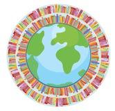 Έννοια εκπαίδευσης σφαιρών και βιβλίων Στοκ Εικόνα