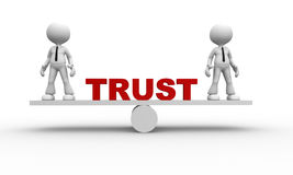 Έννοια εμπιστοσύνης ελεύθερη απεικόνιση δικαιώματος