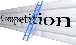Έννοια εμποδίων ανταγωνισμού, τρισδιάστατη απεικόνιση αποθεμάτων