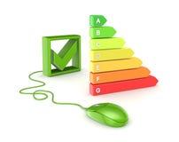 Έννοια ενεργειακής αποδοτικότητας. Στοκ Εικόνες