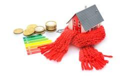 Έννοια ενεργειακής αποδοτικότητας σπιτιών στοκ εικόνα