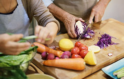 Έννοια ενότητας ζεύγους μαγειρέματος ανώτερη Στοκ Εικόνα