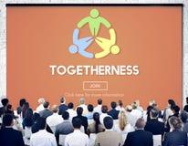 Έννοια ενότητας ομάδας υποστήριξης φιλίας ενότητας Στοκ Εικόνα