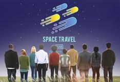 Έννοια εξερεύνησης αστρονομίας διαστημικού ταξιδιού Στοκ Εικόνα
