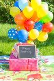 Έννοια εορτασμού γενεθλίων παιδιών Στοκ Εικόνες