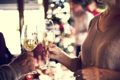 Έννοια εορτασμού οικογενειακών μαζί Χριστουγέννων στοκ φωτογραφίες