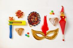 Έννοια & x28 εορτασμού Purim εβραϊκό καρναβάλι holiday& x29  Στοκ φωτογραφίες με δικαίωμα ελεύθερης χρήσης