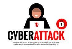 Έννοια επίθεσης Cyber απεικόνιση αποθεμάτων