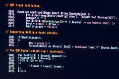 Έννοια επίθεσης DDOS cyber Στοκ φωτογραφία με δικαίωμα ελεύθερης χρήσης