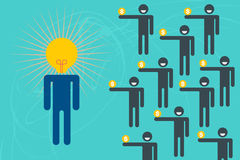 Έννοια επενδυτών Crowdfunding και επιχειρήσεων Στοκ Εικόνα