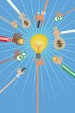 Έννοια επενδυτών Crowdfunding και επιχειρήσεων Στοκ φωτογραφία με δικαίωμα ελεύθερης χρήσης