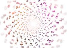 Έννοια επεξεργασίας - ψηφιακή - αριθμοί στον κύκλο - πορφυρά ψηφία Στοκ εικόνες με δικαίωμα ελεύθερης χρήσης