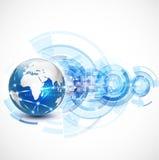 Έννοια επικοινωνίας και τεχνολογίας παγκόσμιων δικτύων, διάνυσμα Στοκ Εικόνα