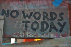 Έννοια επικοινωνίας  Καμία λέξη σήμερα Στοκ Εικόνες