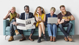 Έννοια επικοινωνίας τρόπου ζωής ομάδας ανθρώπων ποικιλομορφίας στοκ φωτογραφία