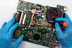 Έννοια επισκευής υπολογιστών στοκ εικόνα με δικαίωμα ελεύθερης χρήσης